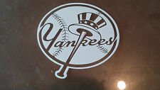 NEW YORK YANKEES 5X5 white car Decal Sticker