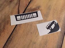 Jeep Cherokee XJ Windshield Grill Climbing Decals Stickers (buy 2 get 3!)