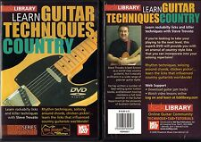 Lick Library Learn Guitar Techniques Country, Steve Trovato, NEW DVD