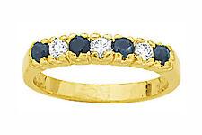 Alliance T56 Demi-Rail Diamant et Saphir Cz Plaqué Or 18K 5 Microns Dolly-Bijoux