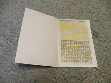Letraset decals Dry transfers 1/72 M29 Luftwaffe squad code lett numb  F19