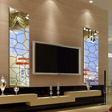 7pcs 3D DIY Moderna Adesivi Murali Specchio Decoro Casa Rimovibile Wall Sticker