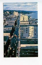 Duluth MN Street View Old Cars Aerial View Vintage Store Fronts Postcard