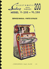 MANUALE COMPLETO  (manual) JUKEBOX SEEBURG MODELS V 200 - VL 200 (juke box)