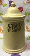 Vintage Pfaltzgraff VILLAGE Flour Canister EXCELLENT Condition With Lid