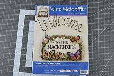NEW Counted Cross Stitch kit - Dimensions Wire Welcome Butterfly Delight 72553