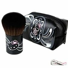 Hello Kitty  Makeup Cosmetic Brush Black Beauty Professional with case bag Girls