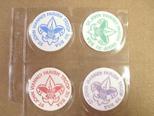 ST. JOHN VIANNEY PARISH TROOP 311 BSA POGS  LOT/SET OF (4)