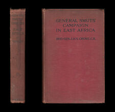 1918 Crowe GENERAL SMUTS' CAMPAIGN IN EAST AFRICA  Rufiji LETTOW VORBECK Askaris