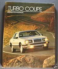 1983 Ford Thunderbird Turbo Coupe Dealer Only Instruction Brochure Orig T-bird