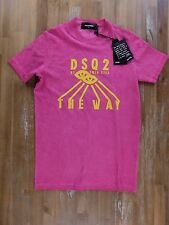 auth DSQUARED2 Dsquared FW2016 pink slim-fit t-shirt - Size Small S - NWT