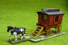 Gas Lamp Alley LEDGE TYPE GYPSY CARAVAN & HORSE set MDF & Card 28mm, G067