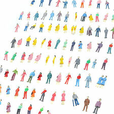 100 pcs Building Layout Model People Train 1:87 HO Scale Painted Figure US Stock