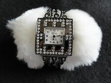 Pretty Ladies Geneva Platinum Quartz Watch