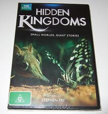 Hidden Kingdoms (DVD, 2014) Narrated by Stephen Fry, BBC Earth - new, sealed