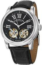 Stuhrling 661 01 Legacy Automatic Double Open Heart Leather Strap Mens Watch