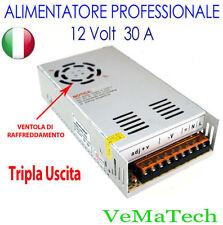 VMS ALIMENTATORE STABILIZZATO SWITCH TRIMMER 220V-12V 30A TRASFORMATORE LED SMD