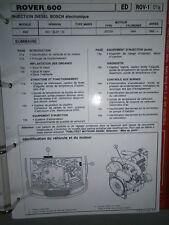 Rover 620 - Di SDi SLDi 1995 - : diagnostic réglage injection Publitest ROV-1