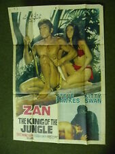 TAR- ZAN - THE KING OF THE JUNGLE ,ORIGINAL  ASIAN   CINEMA POSTER .