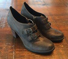 Women's Size 8 M Indigo By Clark's Rustic Brown Leather Ankle Boots Shoes