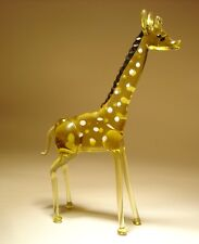 "Blown Glass ""Murano"" Art Figurine Wild Animal Standing GIRAFFE"