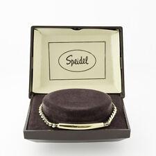 SPEIDEL (2560)  GOLD-TONE ID BRACELET - NOS in ORIGINAL CASE