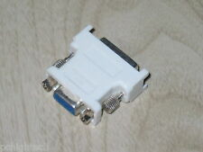 White, Black, Grey DVI-I MALE to FEMALE VGA Adapter For HDTV LCD TV