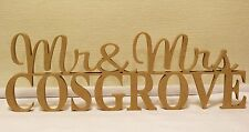 Personalised custom wedding Mr & Mrs surname freestanding wooden letters sign