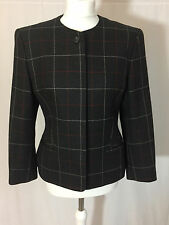Gorgeous Austin Reed Grey Red Check 100% Wool Jacket Blazer 10 but more 12 VGC