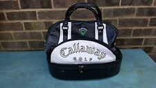 Callaway Black & White Leather Golf Shoe/ Practice Ball Bag