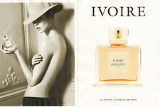 Publicité  Advertising 2012 (double page)  Parfum IVOIRE de BALMAIN