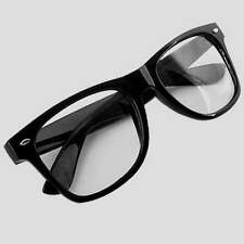 Unisex Men Women Clear Lens Black Frame Eyeglasses Glasses Spectacles Optical