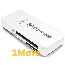 Transcend RDF5 USB 3.0 Card Reader SDXC Micro SDHC SD TF Adapter UHS-I White