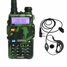 Baofeng UV-5R Green Dual Band 136-174/400-520MHz Two Way FM Radio + Earpiece US