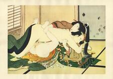 Japanese Reproduction Woodblock Print Shunga Style 9# Erotic  A4 Parchment Paper