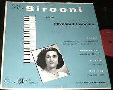 ALICE SIROONI plays Keboard Favorites LP PRIVATE CLASSICAL PIANO NEW YORK CITY