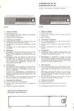 Siemens ORIGINALI service manual per suono Maestro RG 401/402
