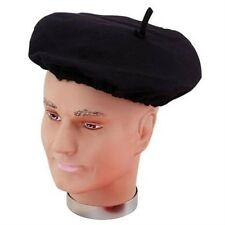 Black Felt French Beret Hat Allo Allo France Fancy Dress Adult NEW P2038