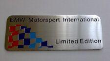 Emblème BMW M Edition Limitée (e31,e34,e46,e90,e92,e57,e87,e39,320,318,x3)plaque
