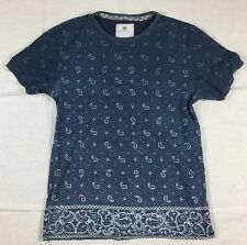 Mens PacSun ON THE BYAS Short Sleeve Tee Multi-Colored Paisley Print Size Medium
