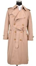 ICONIC Burberry Made In UK Khaki Cotton NOVA CHECK Belted Rain Trench Coat 40