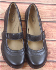 Clarks Mary Jane Leather Shoes Size UK 7 D Work Office Comfortable