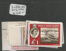 Turks & Caicos SG 237-50, 253 MNH (7chy)