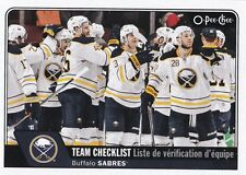 BUFFALO SABRES 2016-17 16-17 OPC O-PEE-CHEE TEAM CHECKLIST SP #619 !