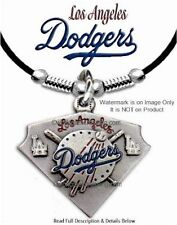 "LOS ANGELES DODGERS NECKLACE for MALE or FEMALE MLB GIFT SALE 24"" LEATHER   #LA*"