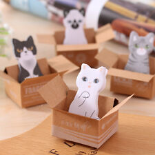 4 Pcs Cute Kawaii Cat Sticky Note Memo Index Pad Label Post It Gift Student Kids