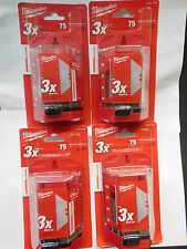 4 PACKS-MILWAUKEE 48-22-1975(75 PC.)GENERAL PURPOSE UTILITY BLADES USA MADE