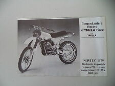 advertising Pubblicità 1978 MOTO VILLA 250 CROSS