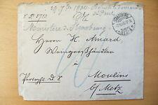 TRES ANCIENNE ENVELOPPE / STRASBOURG //  OCTOBRE  1900  - A IDENTIFIER !!
