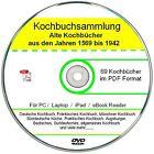 Kochbuch Sammlung auf DVD, 69 alte Kochbücher, Rezepte als E-book Sammlung